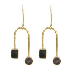 Mari Curved Dangle Earrings